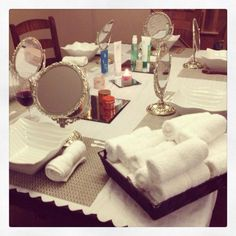 Facial party set up with Arbonne :) Pure, Safe & Beneficial Arbonne ID 21641094 Spa Day Party, Pamper Party, Party Time, Mary Kay, Arbonne Party, Arbonne Consultant, Arbonne Business, Coconut Oil For Face, Spa Night