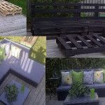 Sofa and chaise-long made of pallets   DIY pallet furniture