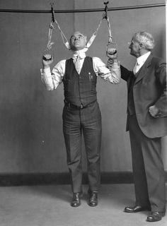 Stretching device which claimed to increase height by 2 to 6 inches, 1931