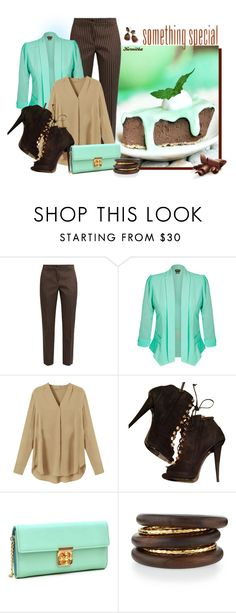 """""""nr 438 / Chocolate Mint Pie"""" by kornitka ❤ liked on Polyvore featuring Etro, City Chic, Giuseppe Zanotti, Dasein, NEST Jewelry, Ippolita and GALA"""