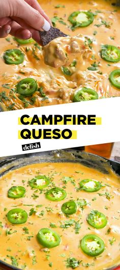 Queso Campfire Queso is the cheesiest, meltiest app you'll make this summer.Campfire Queso is the cheesiest, meltiest app you'll make this summer. Cooking Tips, Cooking Recipes, Healthy Recipes, Healthy Food, Oven Cooking, Fast Recipes, Dinner Healthy, Spicy Recipes, Dip Recipes