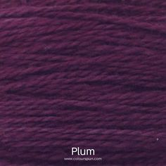 A ColourSpun Pure Cotton yarn and embroidery thread colour swatch. This colour is called Plum Colour Swatches, Super Chunky Yarn, Yarn Colors, Embroidery Thread, Plum, Cotton