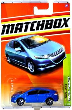Matchbox 2011 Metro Rides 31 of 100 Honda Insight (Blue) by Mattel Scale Honda Insight, Die Games, Matchbox Cars, S Car, Diecast Model Cars, Expensive Cars, Legos, Hot Wheels, Toys