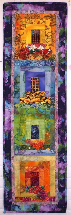 Myra's Window Boxes Art Quilt Technique by Lenore Crawford