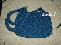 Crochet crocodile stitch clutch purse Tutorial #5 - YouTube