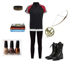 """Hunger Games Fan Set"" by hamsterlover447 ❤ liked on Polyvore featuring moda, Harley-Davidson, China Glaze e Trilogy"