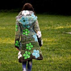 Knitted coat by IngK - SAShE.sk - Handmade
