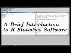 Know Everything About R Programming Language With These Videos -- An Introduction to R - A Brief Tutorial for R {Software for Statistical Analysis}