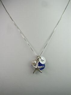 Beach Necklace  Chalcedony Pearl Starfish by MesmericJewelry, $34.00<3333