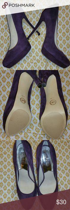 Michael Kors Pumps Purple suede MK York pumps size 8.5 EUC Michael Kors Shoes Heels