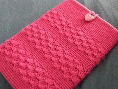 (4) Name: 'Crocheting : Shell Stripe Tablet Cozy