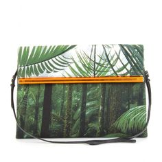 Anything Nature related with fashion speaks to me like walking on grass barefoot. How happy this bag makes me by:  dries van noten clutch