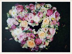 flower heart for front door