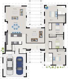 Denah Rumah 436356651395091279 - Keats – Platinum Source by lorrielasseront Best House Plans, Dream House Plans, Modern House Plans, House Floor Plans, The Plan, How To Plan, Casas The Sims 4, Casa Patio, Home Design Floor Plans
