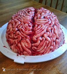 Coolest Brain Cake for a Halloween Birthday... Coolest Birthday Cake Ideas