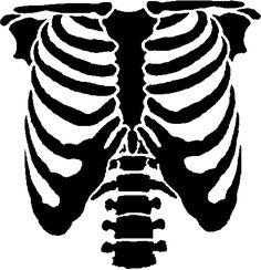 skeleton rib cage stencil - Google Search