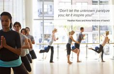 CRAVE Inspiration from Heather Kass and Anna McEvers of barre3