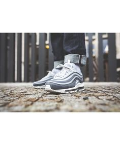 Nike Air Max 97 Premium Wolf Grey Summit White Dark Grey Shoes d51d9ca67