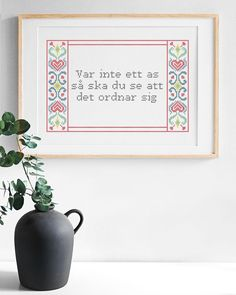 Create your own cross stitch embroidery with your own text using our inspiring patterns. Decorate your home with a unique and personal cross stitch design. Embroidery Transfers, Embroidery Patterns Free, Embroidery Kits, Cross Stitch Embroidery, Gifts For Your Mom, Cross Stitch Designs, Needle And Thread, Interior Design Inspiration, Folklore