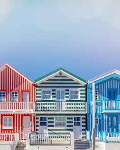 Next stop in Portugal? Love these stripes cottages of Costa Nova travel inspiration stylish cottage coast living goodvibesonly Nova, Amazing Destinations, Travel Destinations, Portugal Travel Guide, Travel And Leisure, Bangkok, Places To Go, Dubai, New York