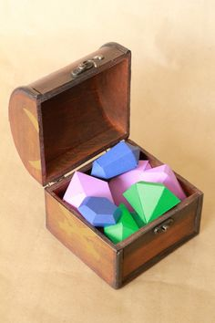 Treasure Chest With 3D Gems | Analisa Murenin for Silhouette