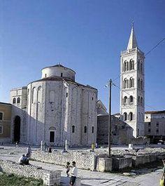 Zadar, Croatia--Roman ruins, just out in the open