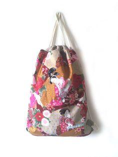 Turnbeutel - Turnbeutel GEISHA floral - ein Designerstück von…