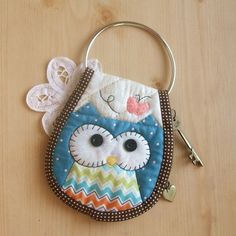 DIY Owl Key Purse Kit. Includes ALL Materials and Pattern. $20.00, via Etsy.