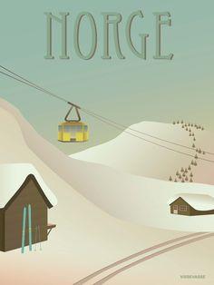 NORGE Sneen - plakat