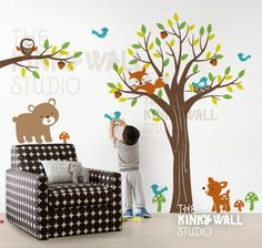 woodland nursery.. love this for a little boy