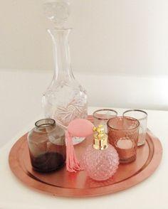 bedroom decor - copper - flacon - pink - Showroom | Bloggers Delight