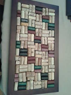 A cork board made of old wine corks