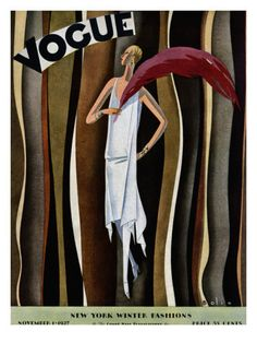 Vogue Cover - November 1 1927 Poster Print by William Bolin at the Condé Nast Collection