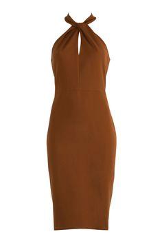 Mustard Twist Neck Dress AW16 One Shoulder, Shoulder Dress, Mustard, How To Wear, Dresses, Fashion, Vestidos, Moda, Fashion Styles