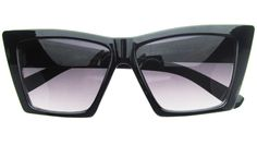 Pointy Cat Eye Sunglasses in Black