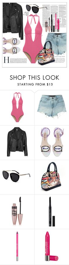 """uhmm"" by williekate ❤ liked on Polyvore featuring Cosabella, T By Alexander Wang, Topshop, Sophia Webster, Smoke & Mirrors, Maybelline, Christian Dior, Urban Decay and Bourjois"