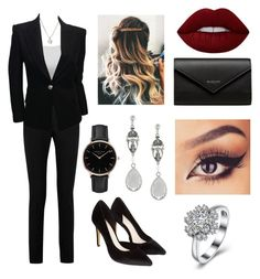 """""""Boss"""" by siri12345 ❤ liked on Polyvore featuring Forzieri, Yves Saint Laurent, Balmain, Monsoon, Topshop, Lime Crime, Balenciaga and Givenchy"""