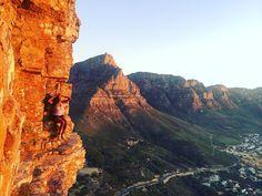 Adventure in my own city.  Climbing Lion's head at sunset last night.  #capetown #city #mountains #adventure #climbing #hiking #sunset #explore #travel #instatravel #rockclimbing #sky #skyviewers #12apostles #campsbay #walking by lumaimira http://ift.tt/1ijk11S
