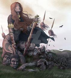 Celtic warrior queen by americanvendetta.deviantart.com on @DeviantArt