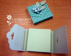 Scalloped Tag Topper Post-It Holder from Flowerbug's Inkspot