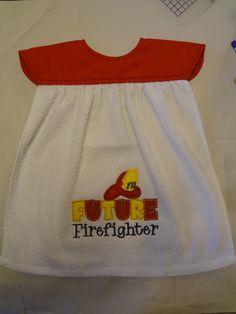 Future Firefighter Toddler Bib by StaronsHomespunTreas on Etsy
