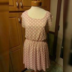 A. Byer Size M Pink Polka Dot Dress Cute pink & white polka dot dress.  Size Medium. A. Byer Dresses