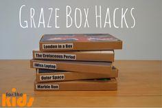 For the Kids - Graze Box Hacks Graze Box, Diy Box, Diy Crafts For Kids, Activities For Kids, Hacks, How To Make, Fun, Reuse, Organizing