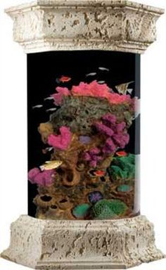 Ocean Treasures Collection Ot6002 6Gallon Coral Splash Aquarium