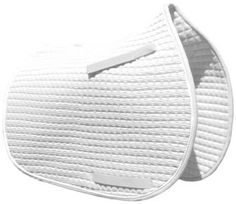 White Saddle Pad - All Purpose Style picture
