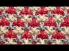 Узоры спицами - Ленивый узор лицевыми петлями - YouTube