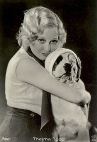 Thelma Todd Vitage Photo B of her holding famous dog PETEY