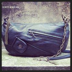 #Bag #Sac #Galliane - #black #vintage #leather @ Matières à réflexion