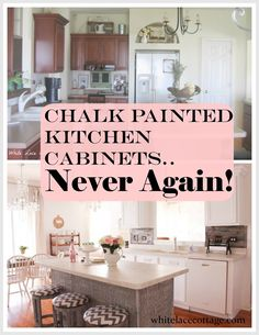 Why I Repainted my Chalk Painted Cabinets | Chalk paint, Kitchens ...