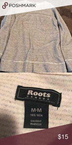 Roots sweatshirt like shirt Black and cream mini stripe top. Super cute with leggings! roots Tops Tees - Long Sleeve